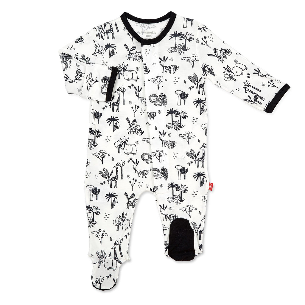 Animal Safari Magnetic Modal Footie Animal Safari / 0-3 months - Doodlebug's Children's Boutique