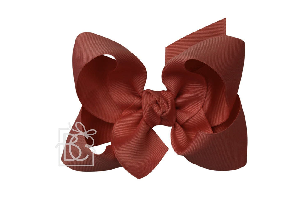 Large Bow in New Rust  - Doodlebug's Children's Boutique