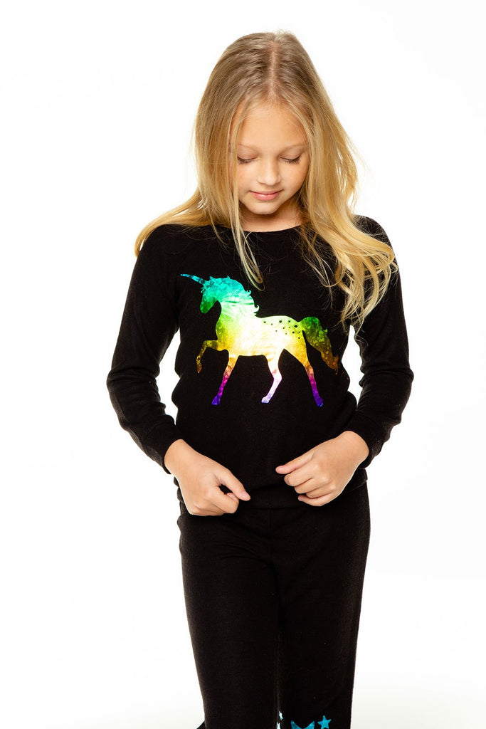 Unicorn Star Pullover  - Doodlebug's Children's Boutique