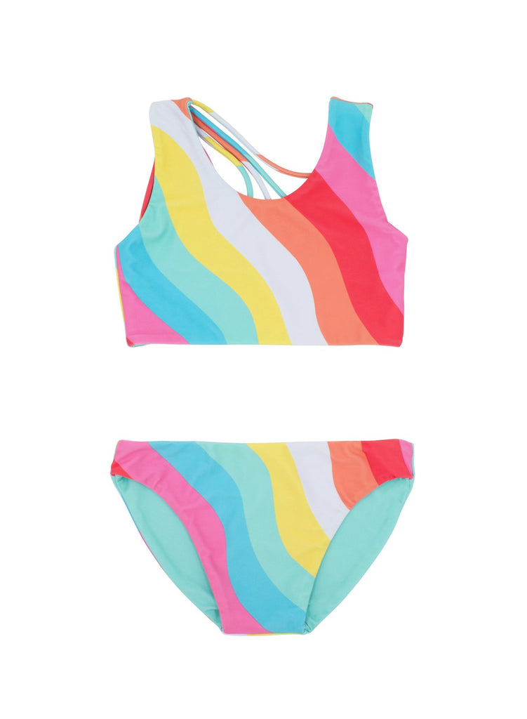 Summer Sun Reversible Bikini  - Doodlebug's Children's Boutique