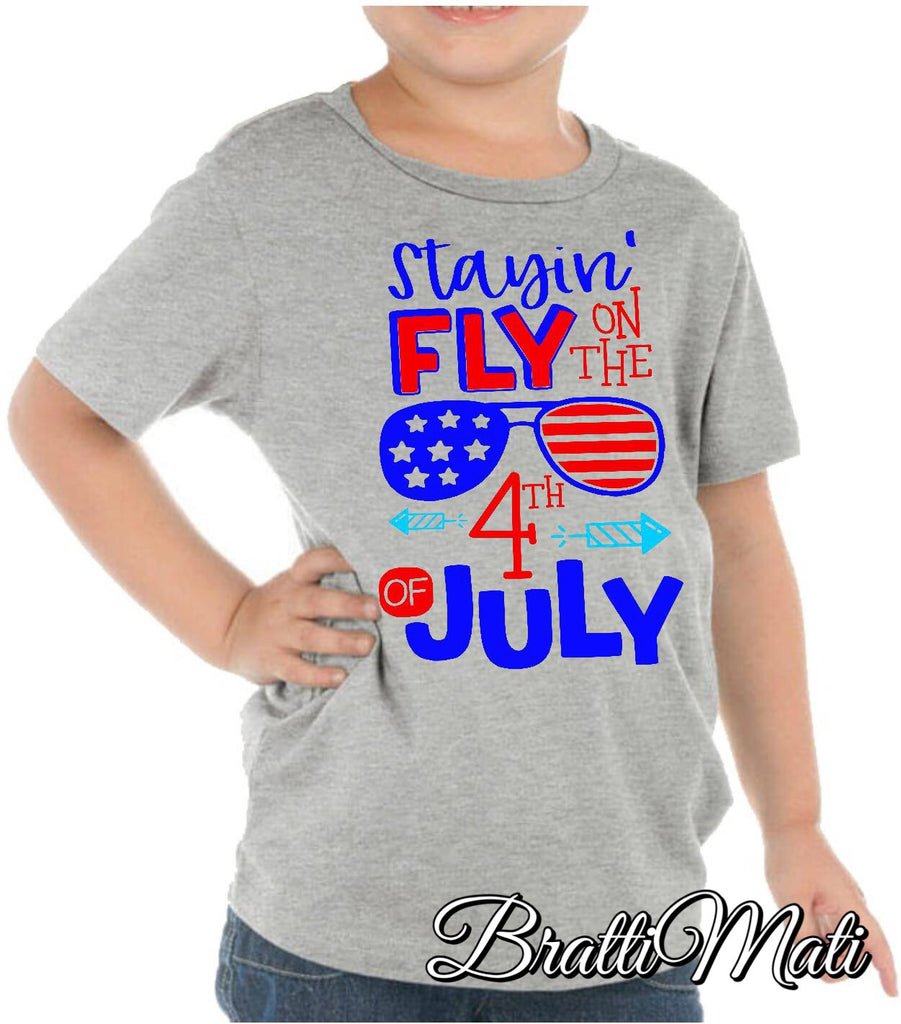 Bratti Mati Stayin' Fly Tee Shirt  - Doodlebug's Children's Boutique