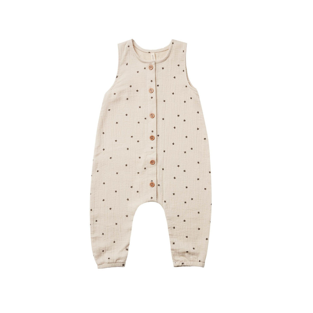 Sleeveless Jumpsuit in Natural Stars