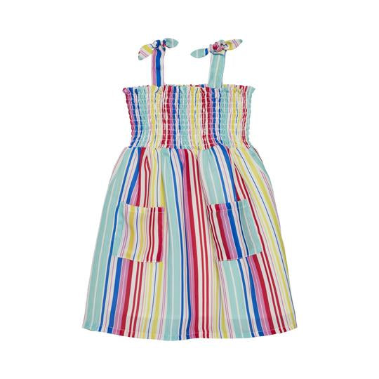 Rainbow Stripe Dress 2T - Doodlebug's Children's Boutique