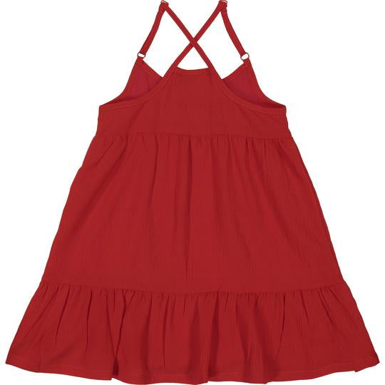 Red Flowy Dress  - Doodlebug's Children's Boutique