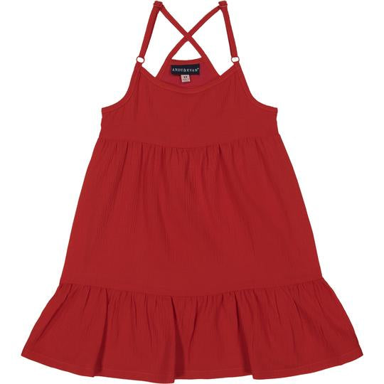 Red Flowy Dress 2T - Doodlebug's Children's Boutique