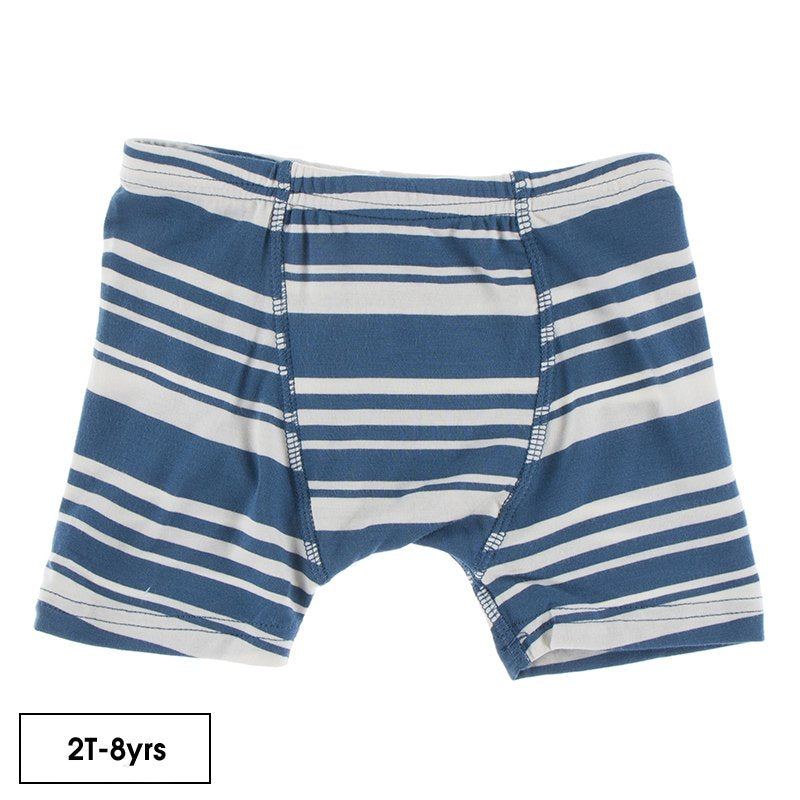 Print Boxer Brief in Fishing Stripe  - Doodlebug's Children's Boutique