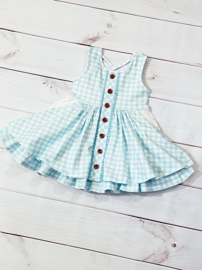 Prim Pocket Dress  - Doodlebug's Children's Boutique