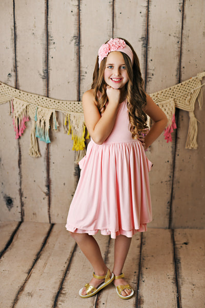 Blush Pocket Essential Dress  - Doodlebug's Children's Boutique