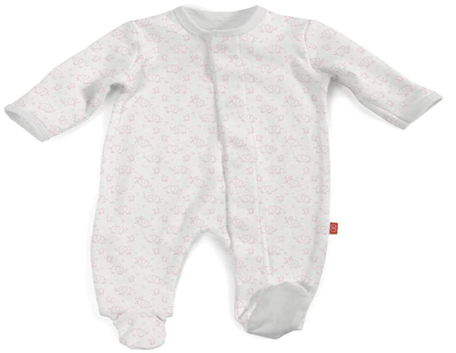 Pink Celebration Magnetic Organic Cotton Footie Pink Celebration / 3-6 months - Doodlebug's Children's Boutique