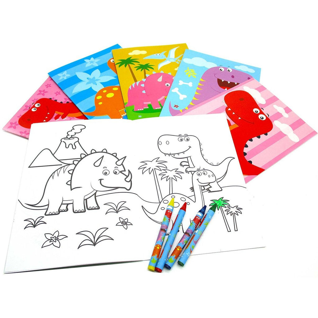 Dinosaur Coloring Book with Crayons  - Doodlebug's Children's Boutique