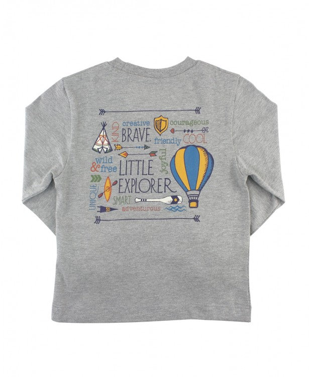 Brave Little Explorer Signature Tee  - Doodlebug's Children's Boutique