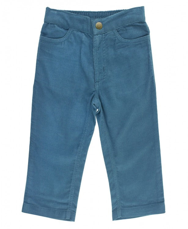 Straight Corduroy Pants in Ethereal Blue  - Doodlebug's Children's Boutique