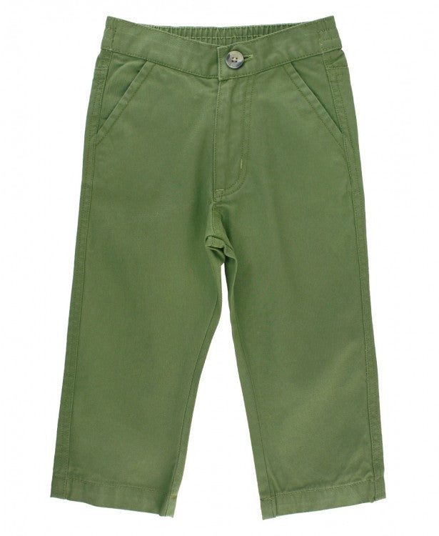 Straight Chino Pants in Moss  - Doodlebug's Children's Boutique