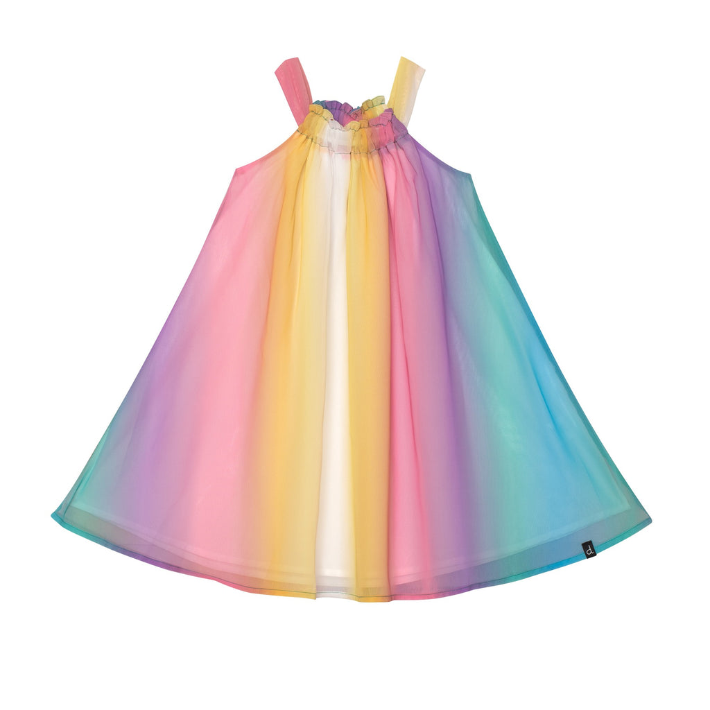 Rainbow Chiffon Dress  - Doodlebug's Children's Boutique