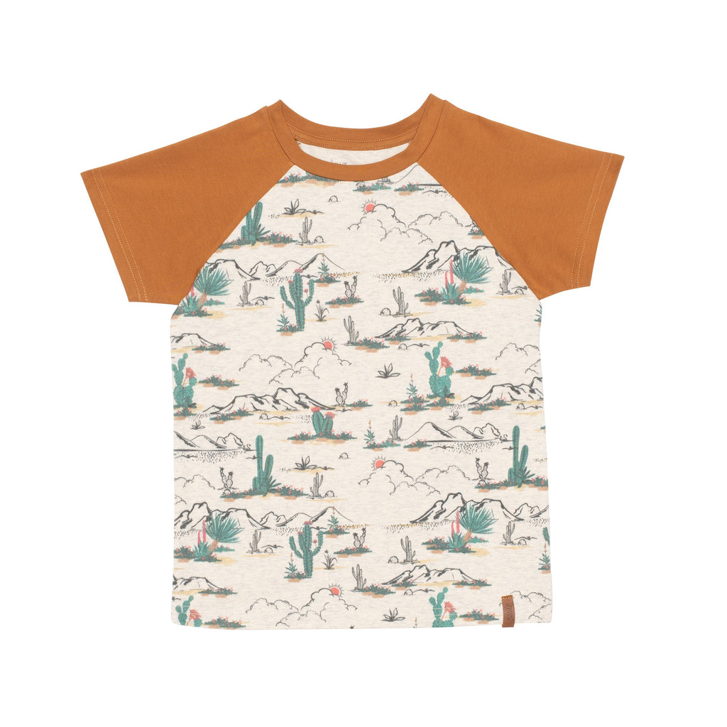 Cactus Raglan Jersey Pocket T Shirt  - Doodlebug's Children's Boutique