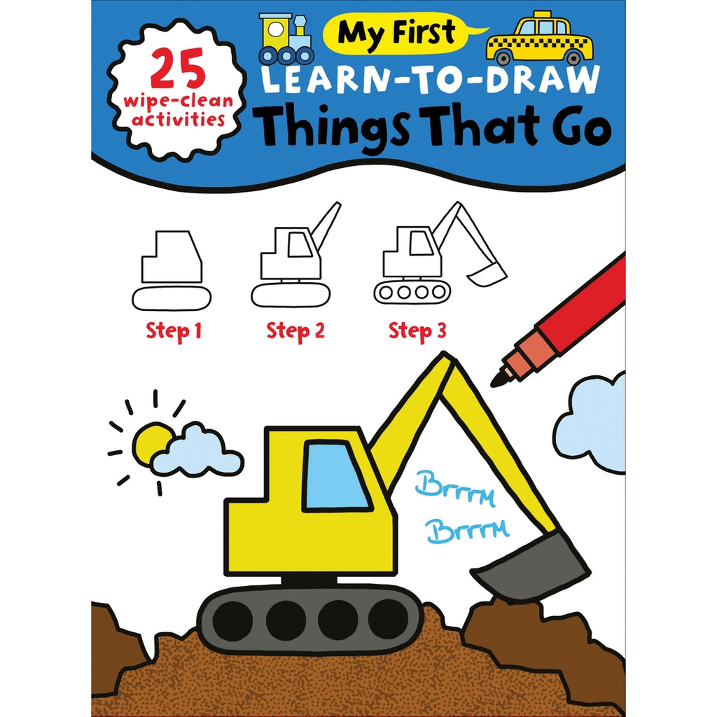 My First Learn to Draw Things That Go Book  - Doodlebug's Children's Boutique