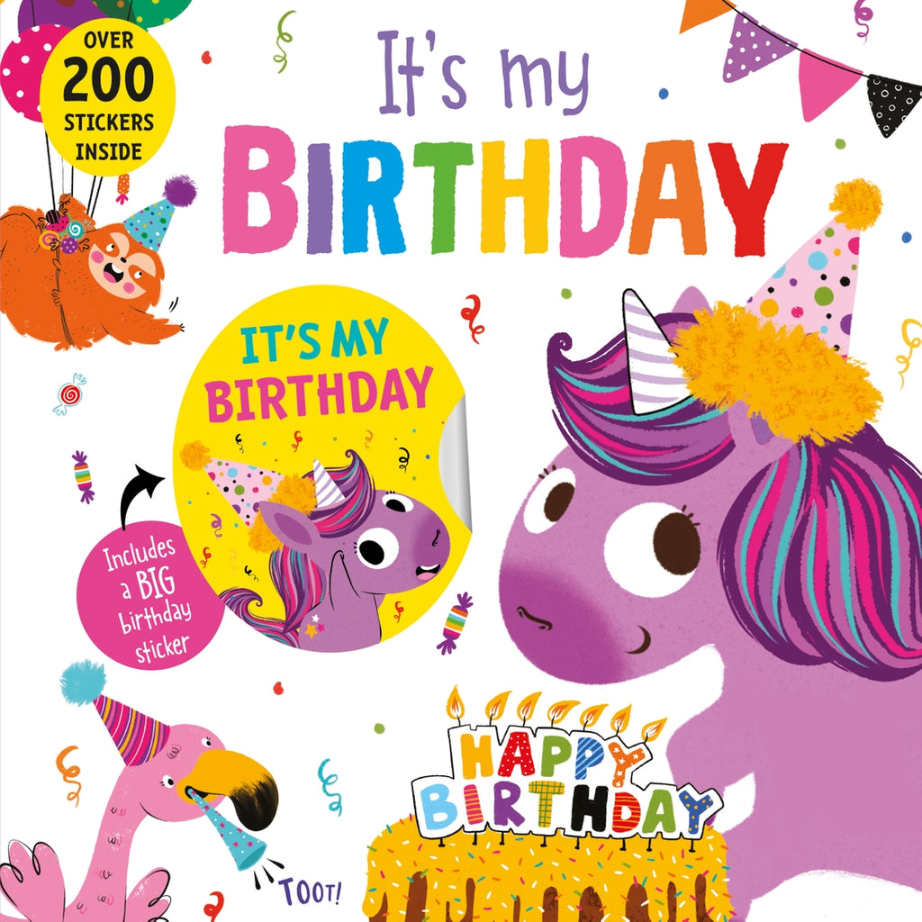 Its My Birthday Unicorn Book  - Doodlebug's Children's Boutique