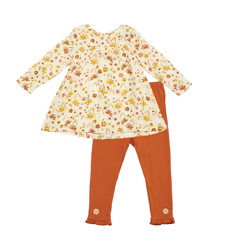 Smocked Top and Legging in Daisy Baby  - Doodlebug's Children's Boutique