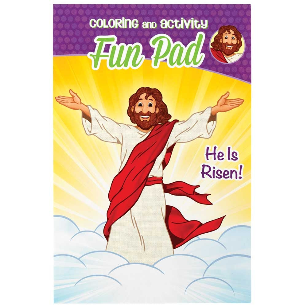 He is Risen Coloring Fun Pad  - Doodlebug's Children's Boutique
