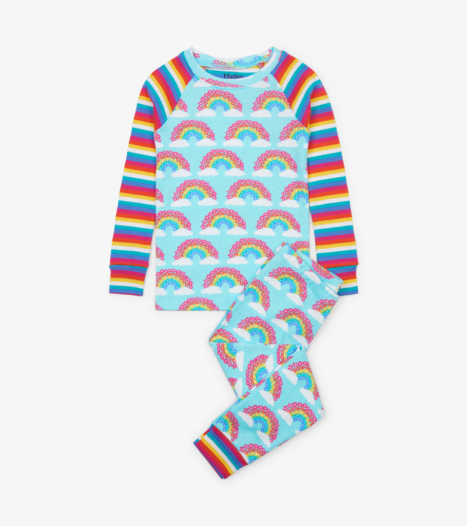 Magical Rainbows Organic Cotton Raglan Pajama Set  - Doodlebug's Children's Boutique