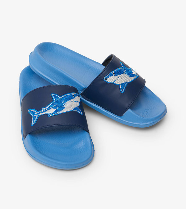 Deep Sea Shark Slide On Sandals  - Doodlebug's Children's Boutique