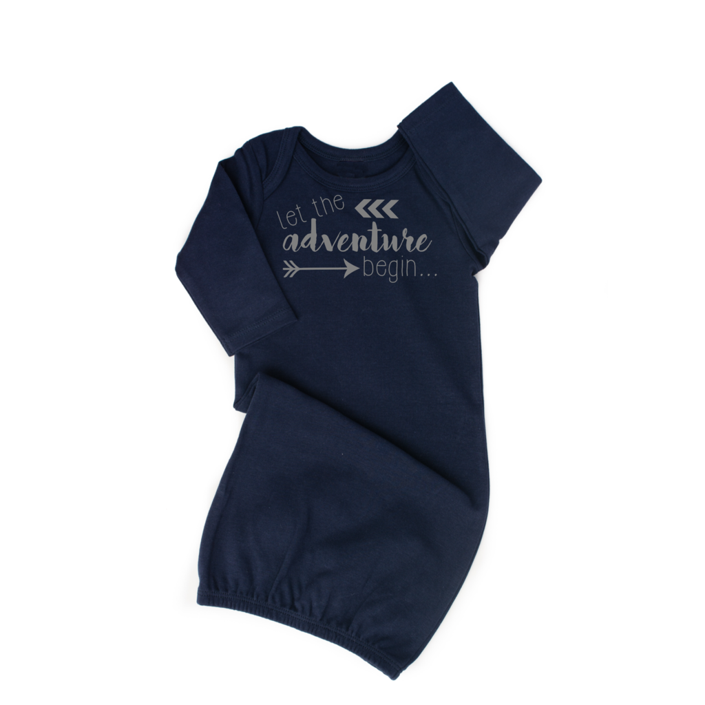 Navy Let the Adventure Begin Gown  - Doodlebug's Children's Boutique