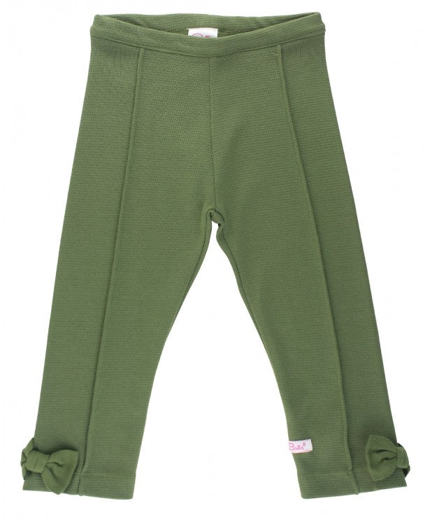 Ponte Pants in Moss  - Doodlebug's Children's Boutique