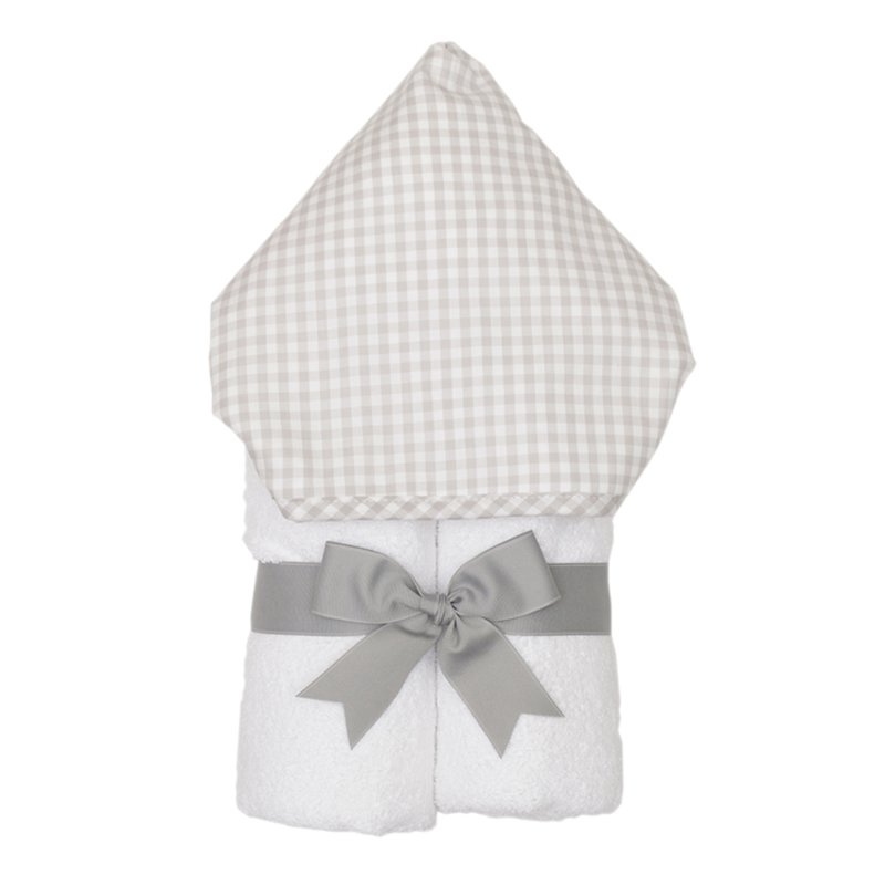 3 Marthas Everykid Hooded Towel Gray Check - Doodlebug's Children's Boutique