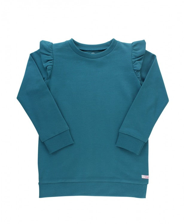 Sweatshirt Tunic in Ethereal Blue  - Doodlebug's Children's Boutique