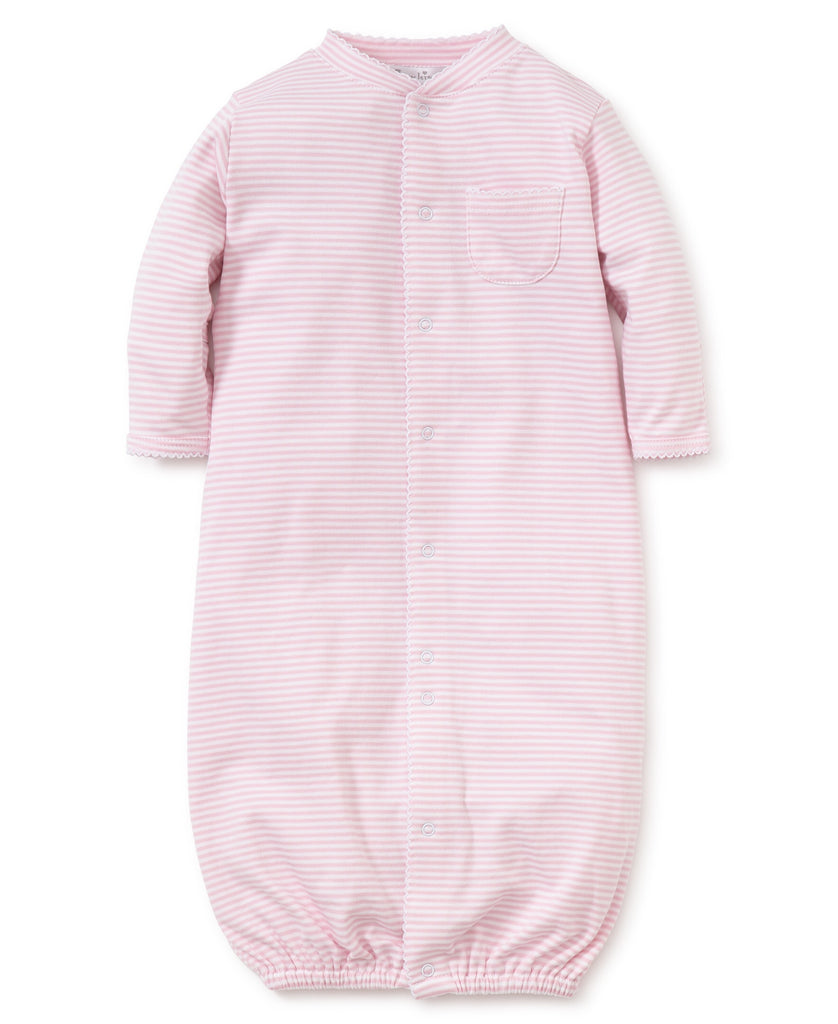 Pink Stripes Convertible Gown Pink / Preemie - Doodlebug's Children's Boutique