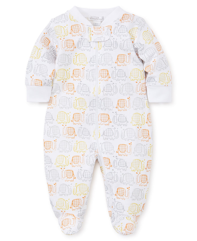 Kissy Kissy Elephant Ears Footie with Zipper  - Doodlebug's Children's Boutique