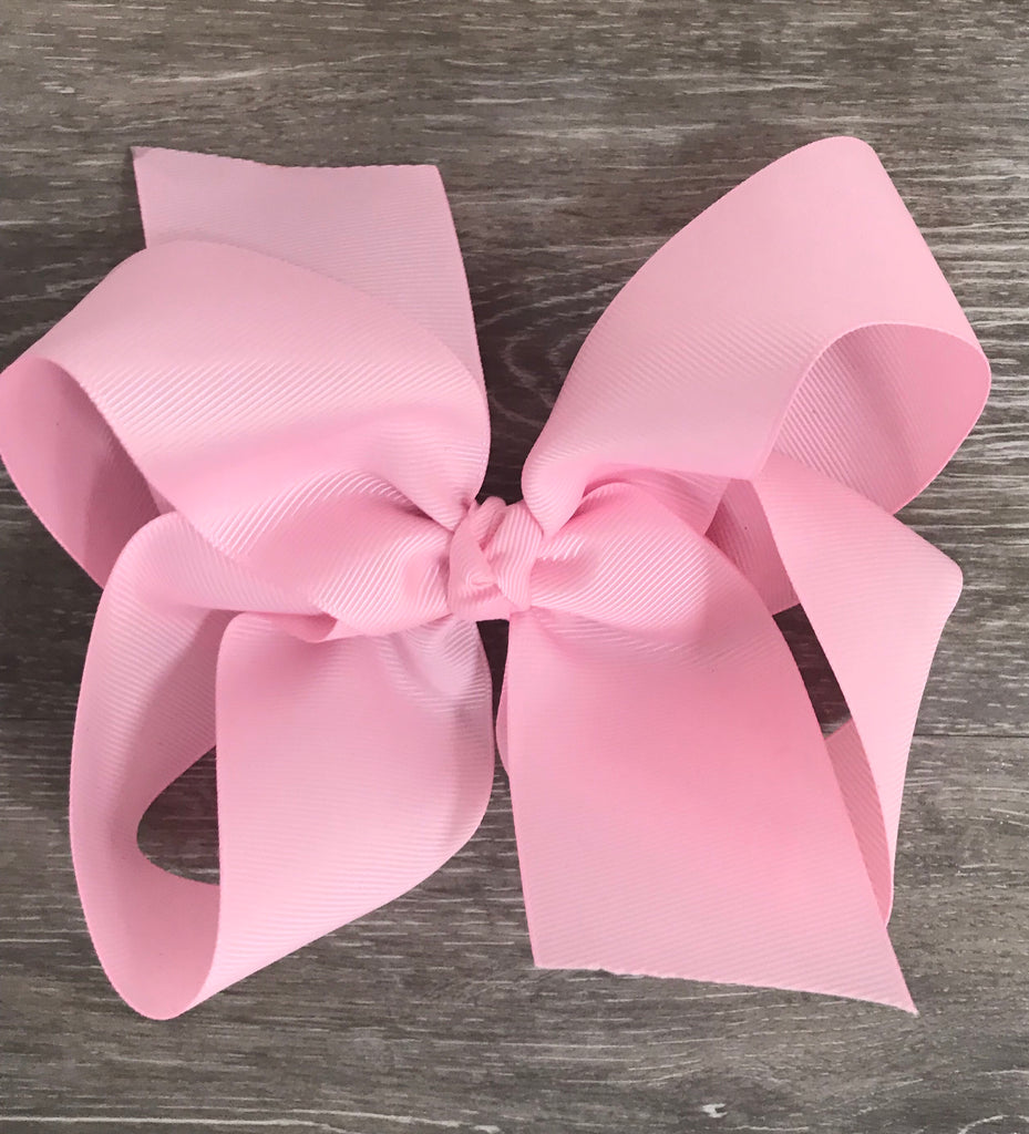 Large Solid Hair Bow in Light Pink Light Pink - Doodlebug's Children's Boutique