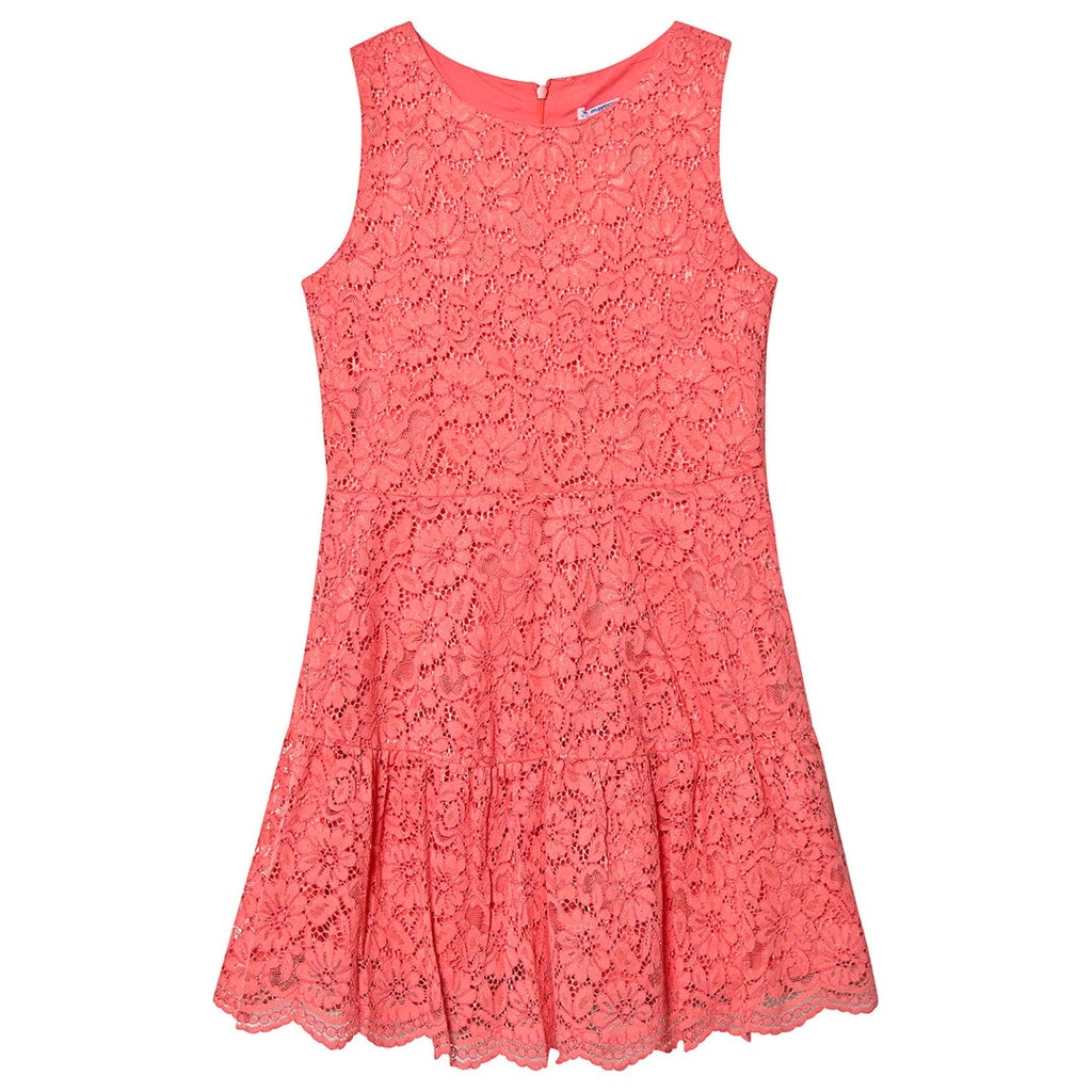 Coral Lace Dress  - Doodlebug's Children's Boutique