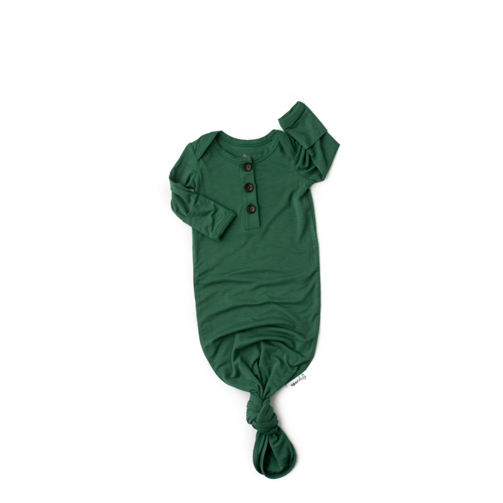 Hunter Signature Tie Button Gown  - Doodlebug's Children's Boutique