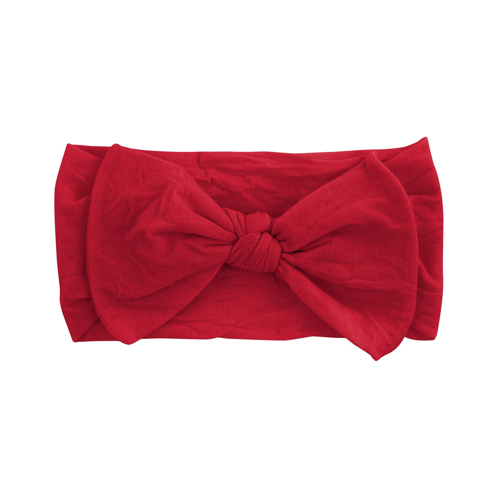 Red Nylon Bow Headband Red / 6-24 months - Doodlebug's Children's Boutique