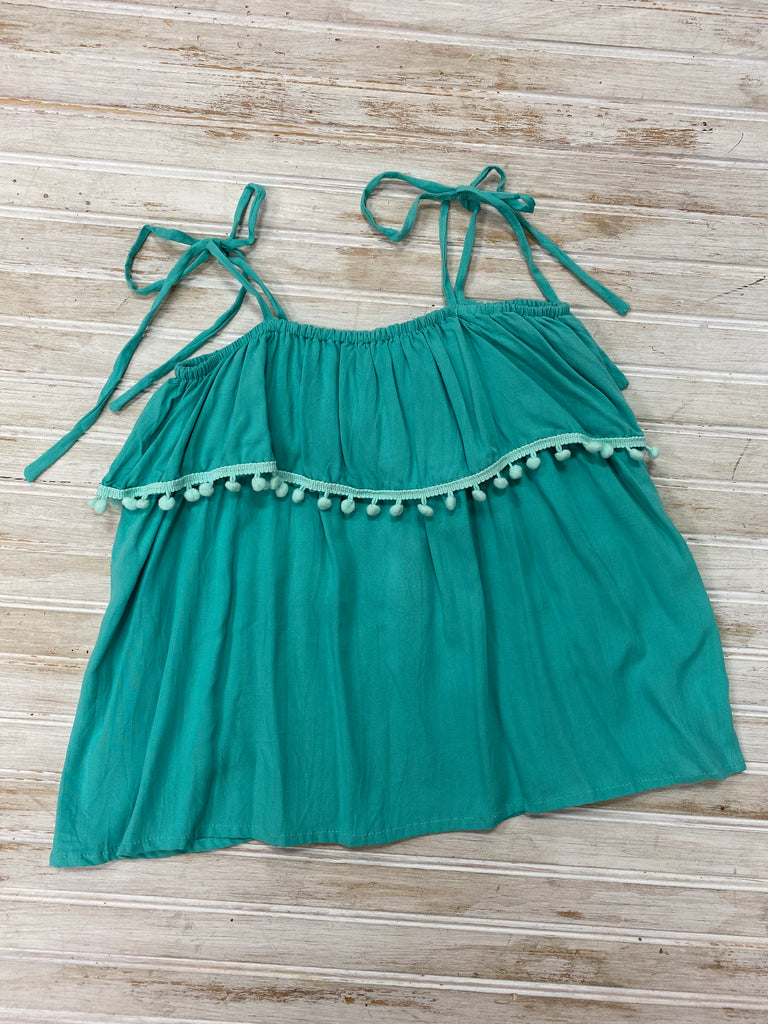Sunkissed Tank in Mint  - Doodlebug's Children's Boutique