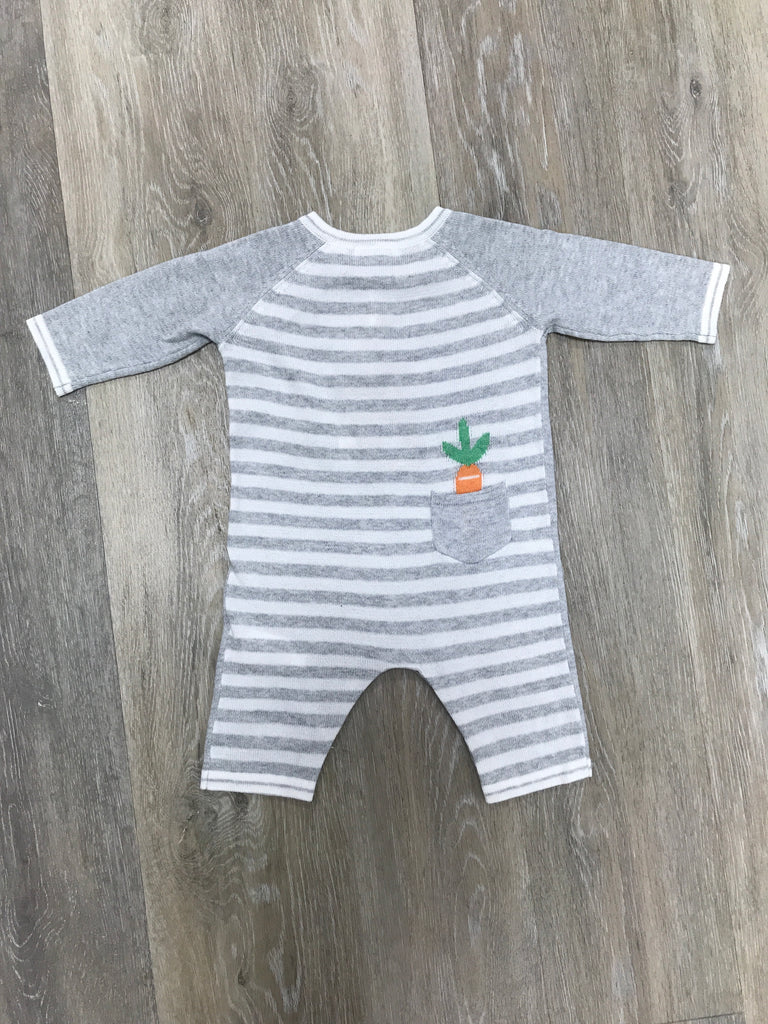 Bunny Knit Intarsia Coverall  - Doodlebug's Children's Boutique