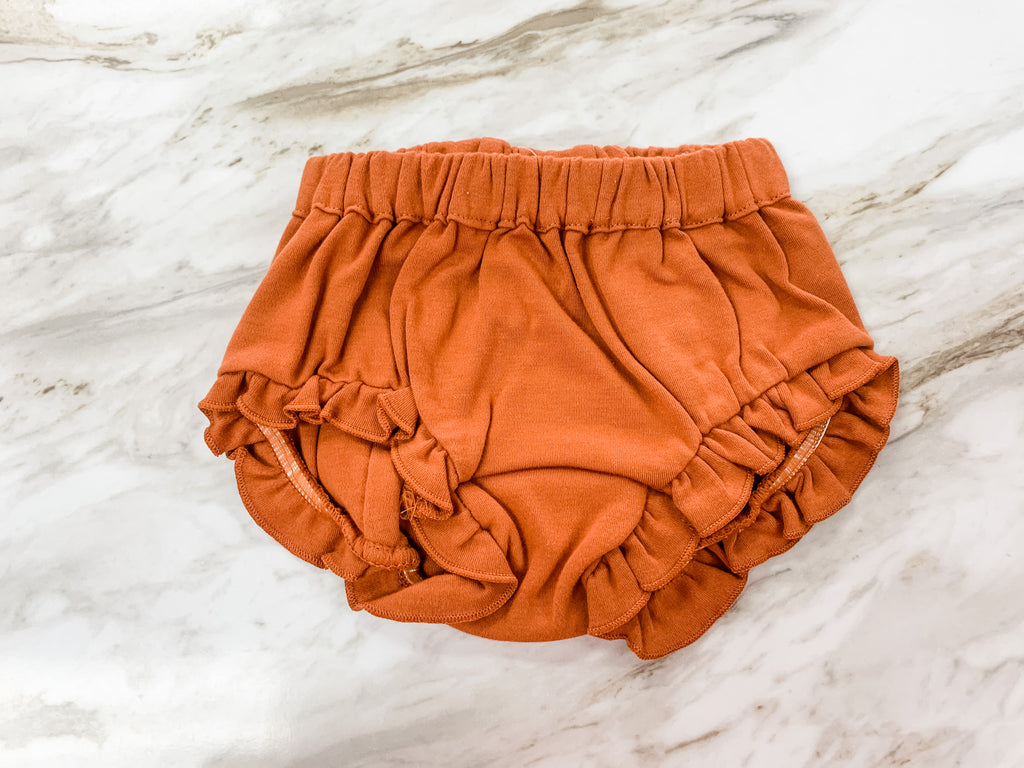 Ruffle Rust Bloomer  - Doodlebug's Children's Boutique