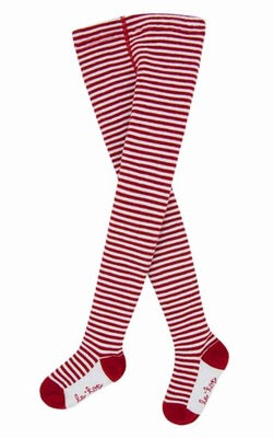 Le Top Tights 12-24m / Red Stripe - Doodlebug's Children's Boutique