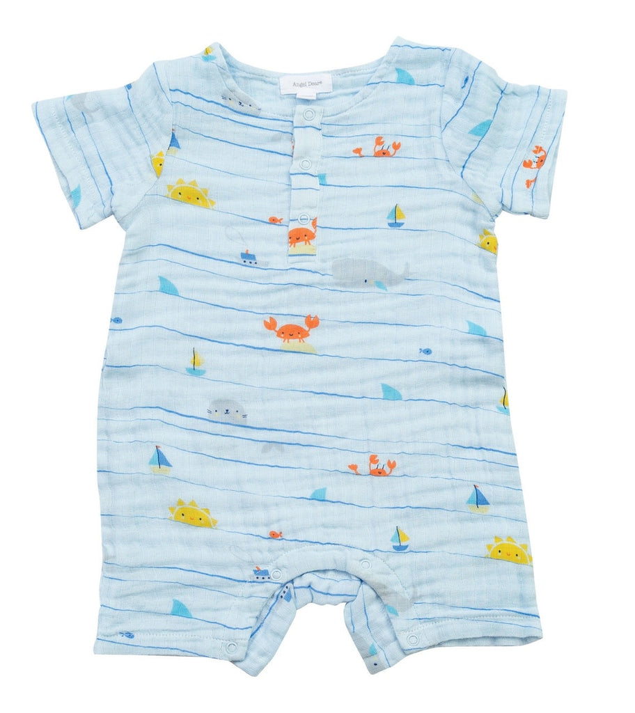 Shortall in Sea Stripes  - Doodlebug's Children's Boutique