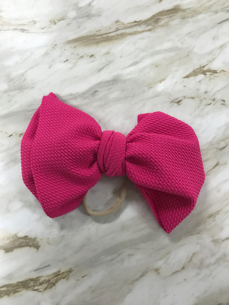 Hot Pink Bella Bow Hot Pink - Doodlebug's Children's Boutique