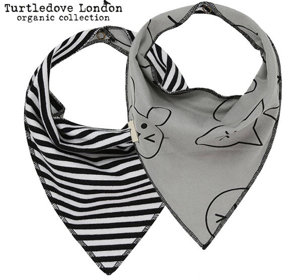 Turtledove London Reversible Bandana Bib