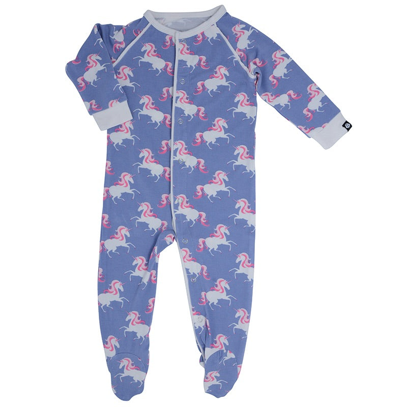 Sweet Bamboo Piped Footie Unicorns / Newborn - Doodlebug's Children's Boutique