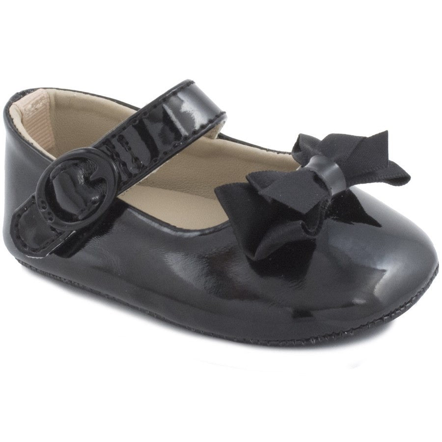 Black Patent Skimmer  - Doodlebug's Children's Boutique