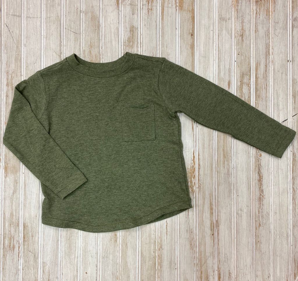 Olive Long Sleeve Tee  - Doodlebug's Children's Boutique