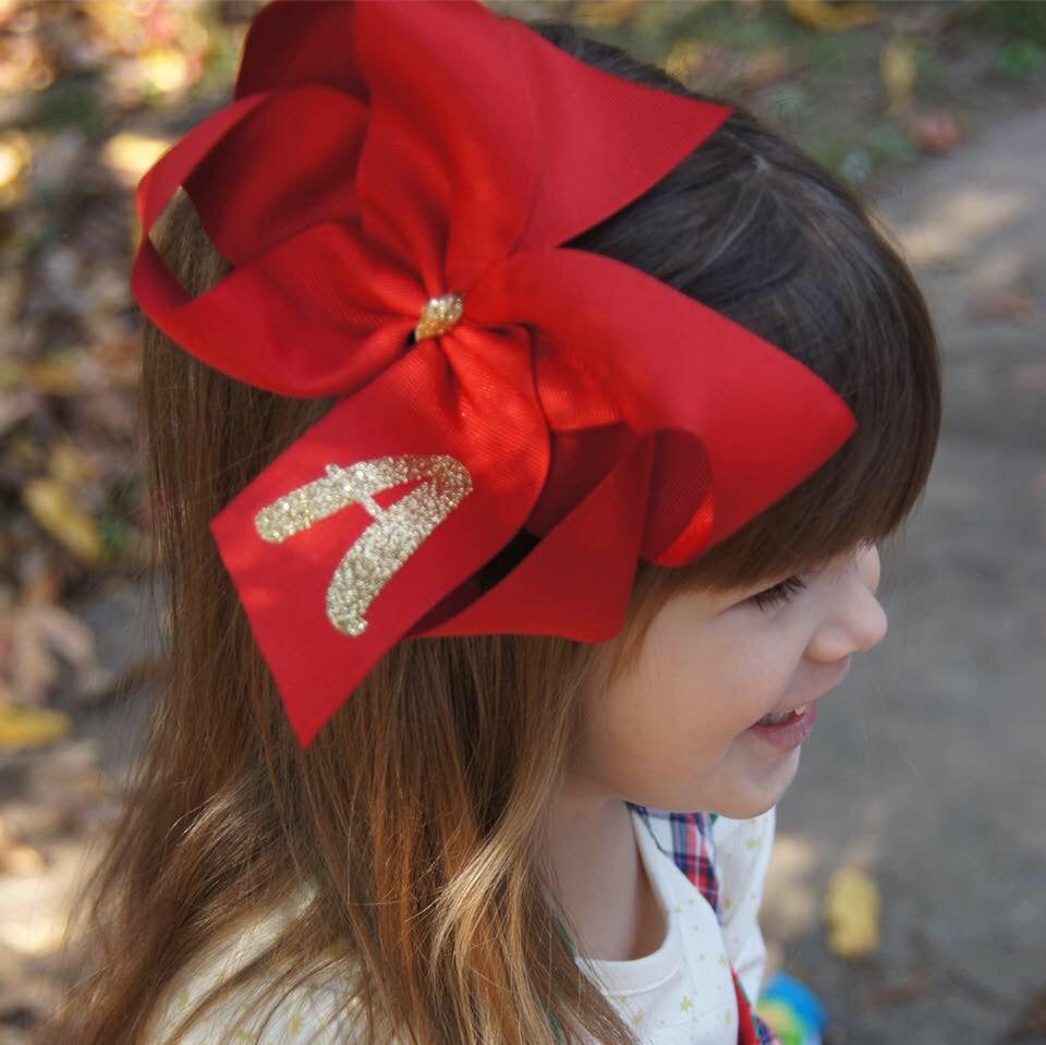 Bow Savvy Large Hair Bow with Vinyl  - Doodlebug's Children's Boutique