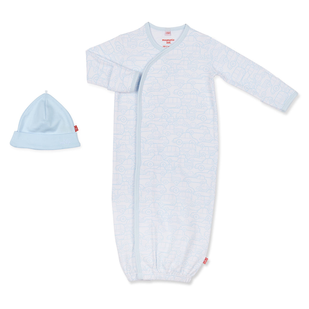 Auto Bon Bon Magnetic Gown and Hat Set Auto Bon Bon / Newborn-3 months - Doodlebug's Children's Boutique