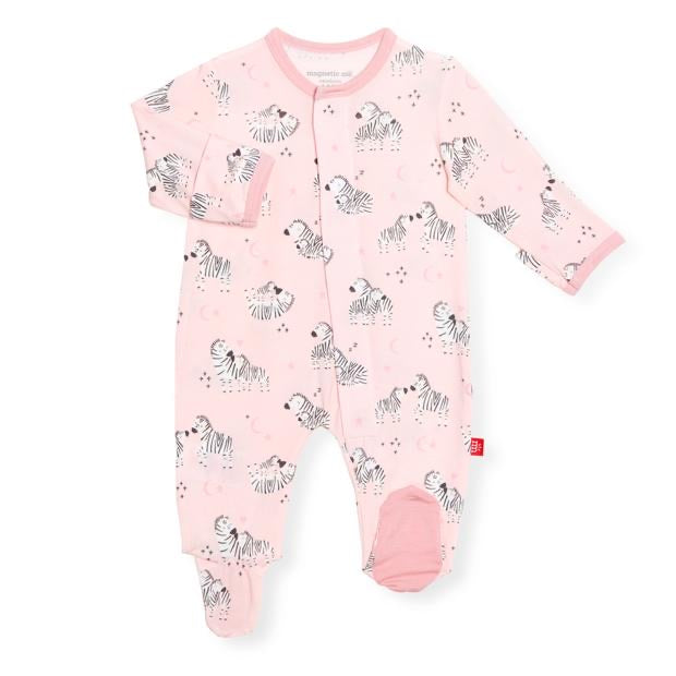 Pink Little Ones  Magnetic Modal Footie  - Doodlebug's Children's Boutique