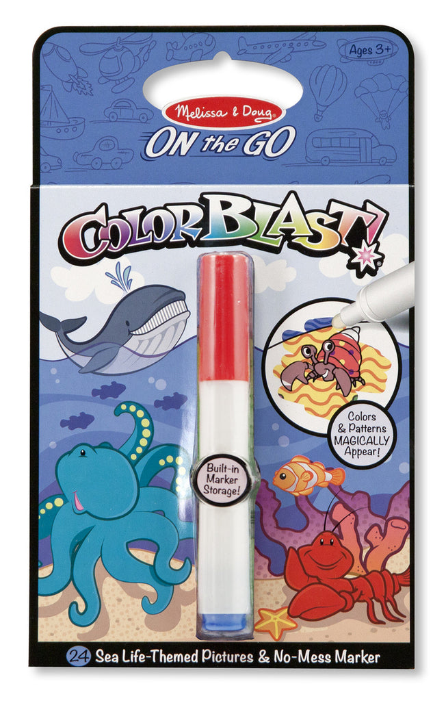 Color Blast Sea Life No Mess Coloring Pad  - Doodlebug's Children's Boutique