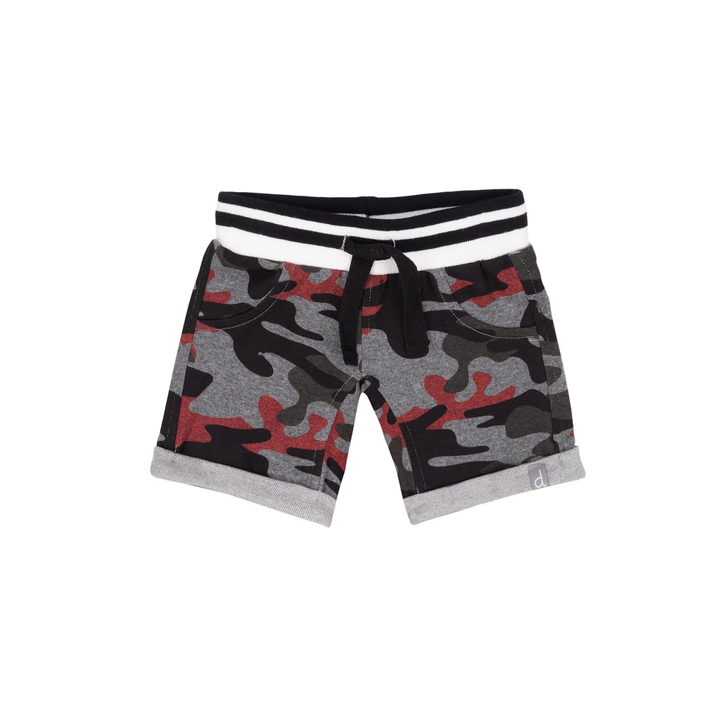 Camo French Terry Shorts  - Doodlebug's Children's Boutique
